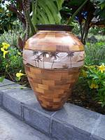 Wood Vessel by Gregg Smith with painting by Aurora King